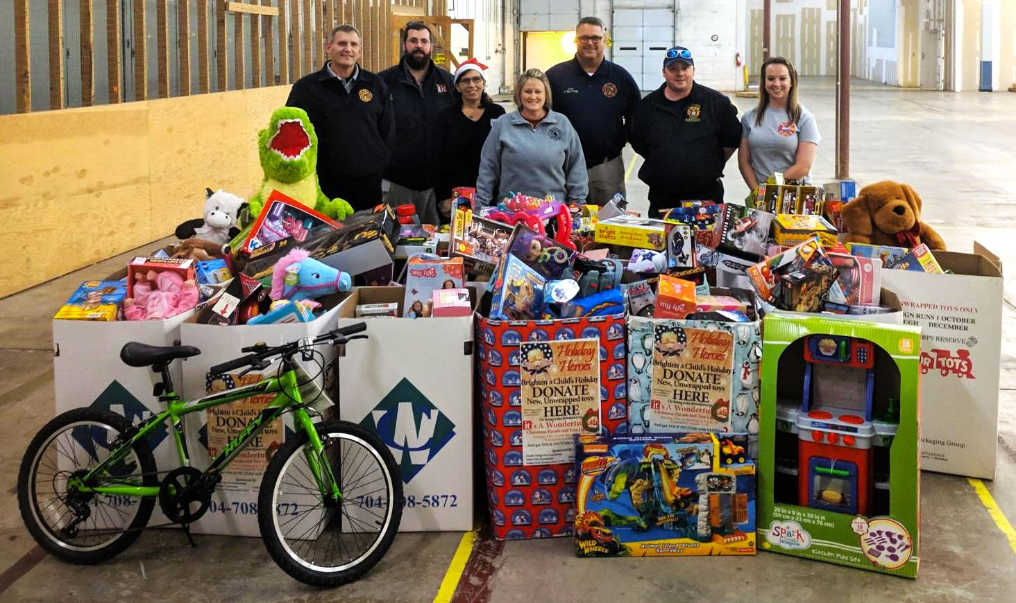 Toys collected for Holiday Heroes