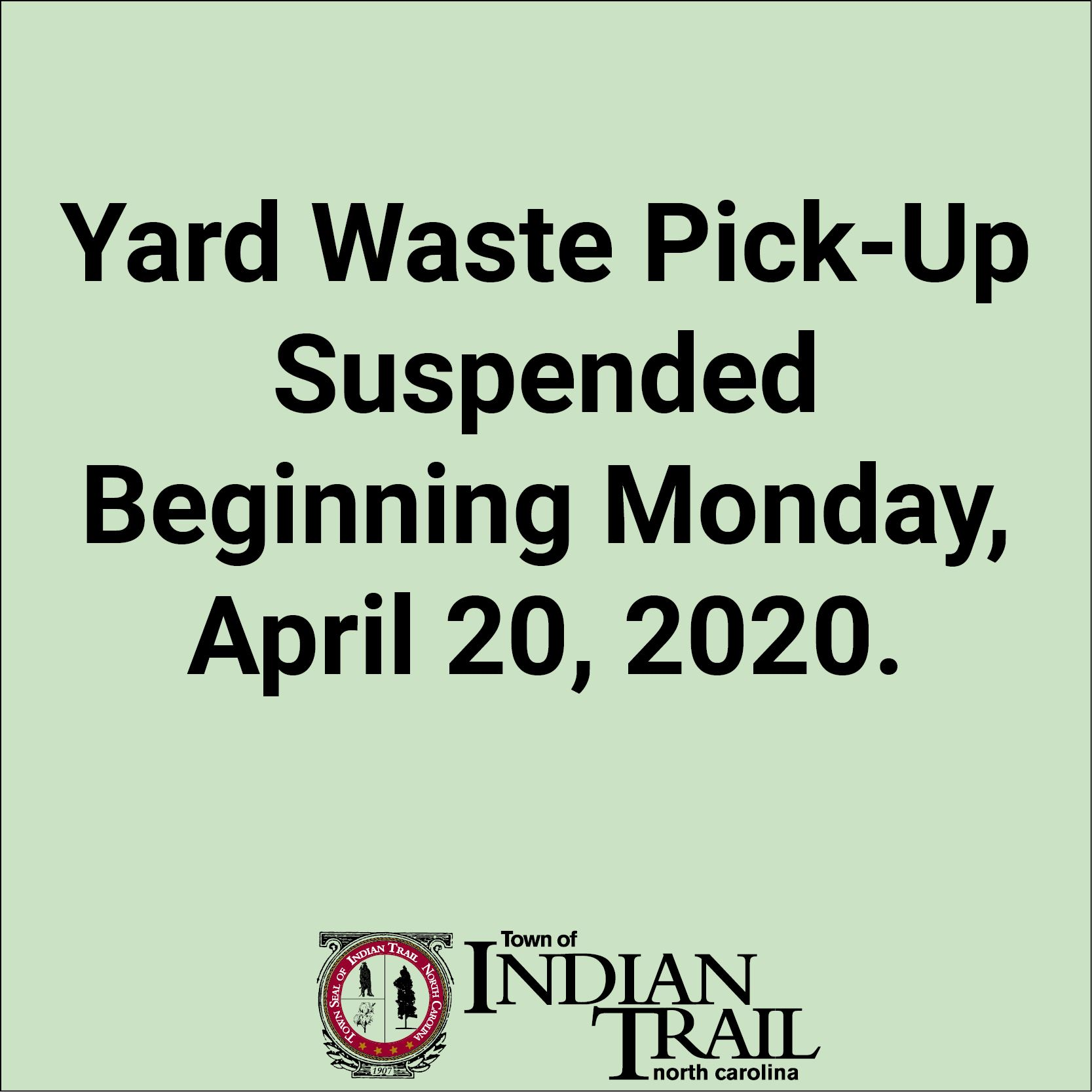 Yard Waste Suspended