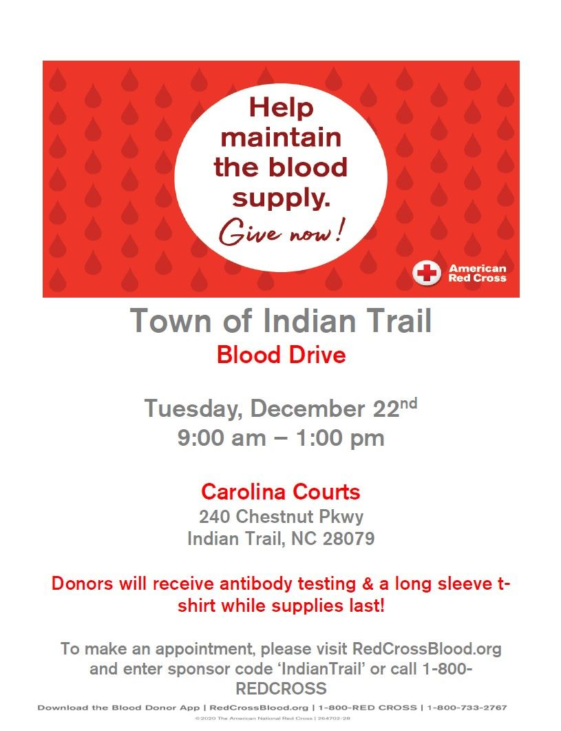 IT December Blood Drive Flyer