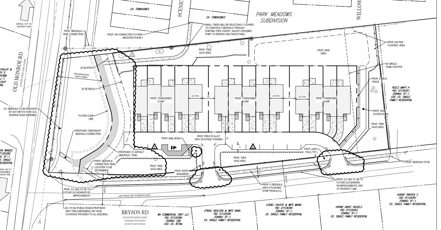 Park Meadows Townhomes Site Plan