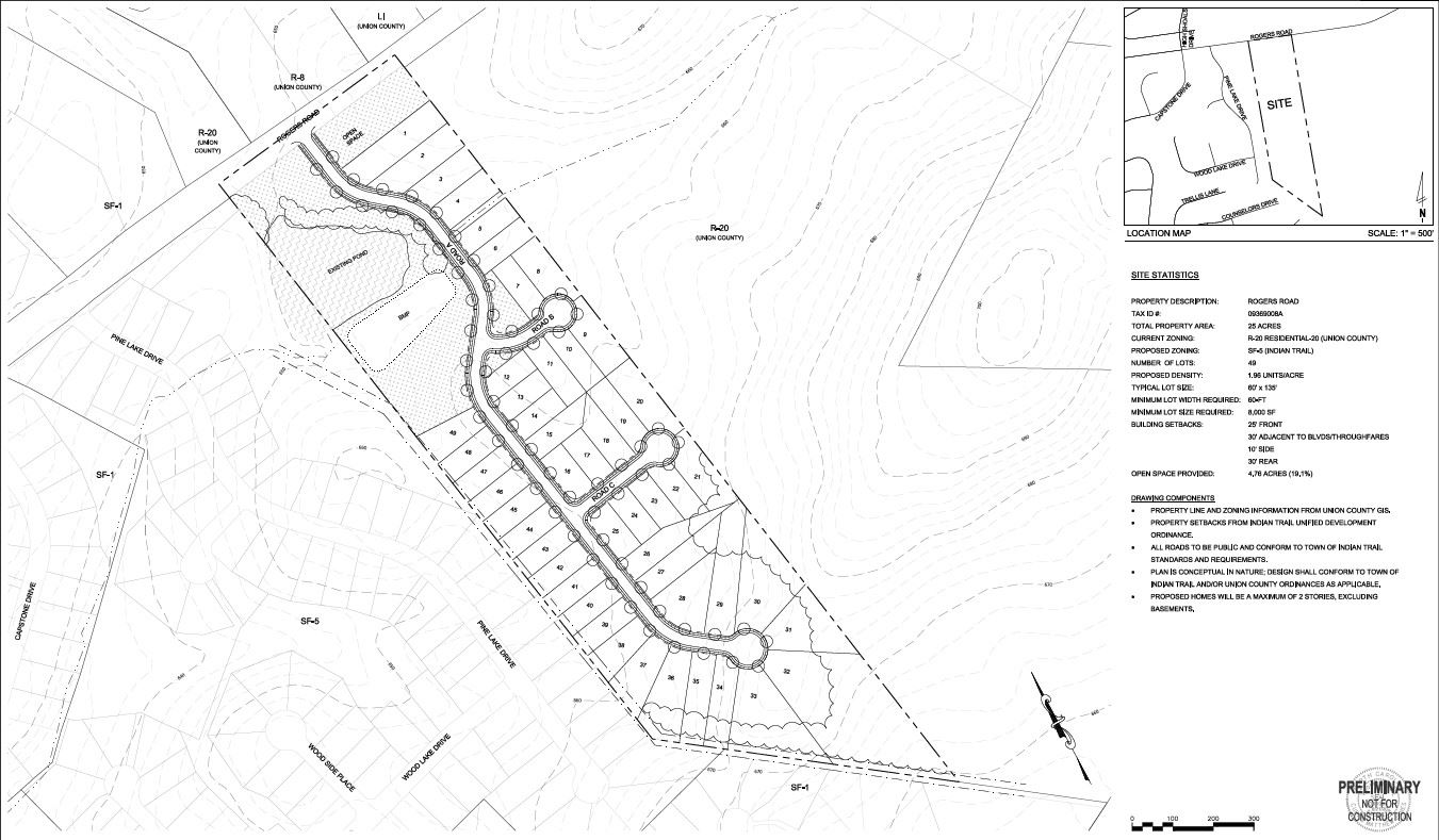 Rogers Road Subdivision Site Plan